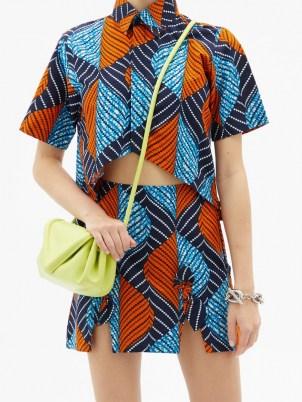 LISA FOLAWIYO Akira Ankara-print cotton top ~ women's bold printed shirts - flipped