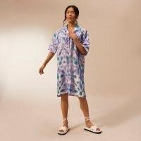 RIVER ISLAND Purple RI Studio oversized shirt dress ~ casual relaxed fit summer dresses