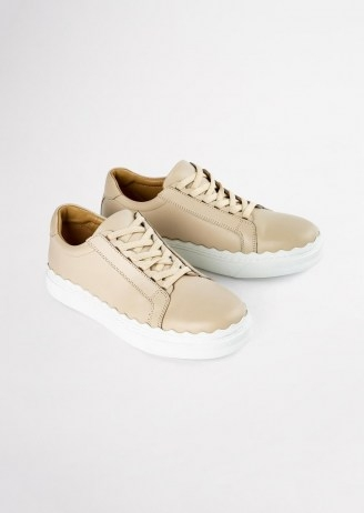 Tony Bianco Qai Vanilla Casual Shoes | sports luxe trainers - flipped