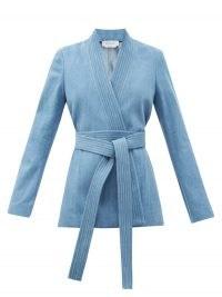 GABRIELA HEARST Racer belted denim jacket ~ blue tie waist jackets