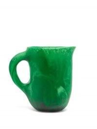 DINOSAUR DESIGNS Rock large marbled-resin jug in green