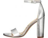 Sam Edelman Yaro Ankle Strap Sandal Heel Silver – metallic sandals
