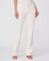 PAIGE Sloane – White Sands | women's low rise boot cut jeans | summer denim