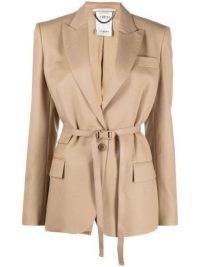 Stella McCartney Bella belted blazer ~ womens skinny belt blazers ~ women's designer jackets