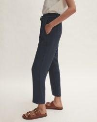 JIGSAW TAILORED JOGGER ~ women's dark blue jogging bottoms
