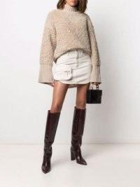 The Attico pocket-detail denim skirt | cotton curved hem mini skirts