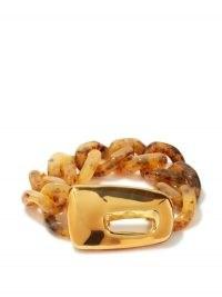 MARNI Tortoiseshell-resin chain bracelet – modern designer bracelets