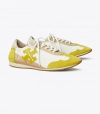 Tory Burch TORY SNEAKER New Ivory / Yellow | sports luxe trainers