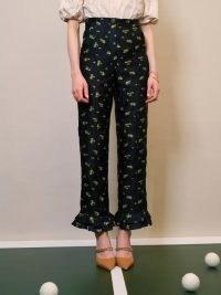 sister jane Flower Match Ruffle Trousers – womens frill trim fashion – ruffled hems