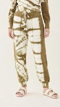 Ulla Johnson Charley Sweatpants Olive Tie Dye / women's cuff hem joggers