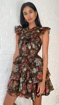 Ulla Johnson Sarafina Dress in Fern / floral ruffled dresses / feminine fashion