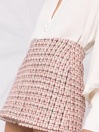 Valentino metallic-knit tweed skort ~ textured skorts - flipped