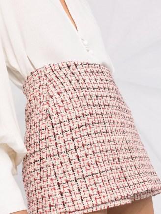 Valentino metallic-knit tweed skort ~ textured skorts