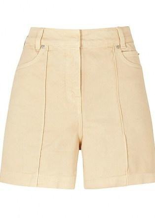 VICTORIA, VICTORIA BECKHAM Cream denim shorts - flipped