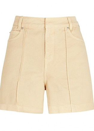 VICTORIA, VICTORIA BECKHAM Cream denim shorts