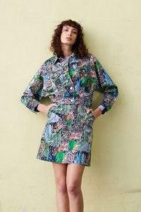Georgia Szmerling x Gorman VIOLET LANDSCAPE DENIM JACKET – women's printed casual jackets
