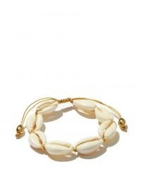 TOHUM Puka shell & 24kt gold-plated bracelet / ocean inspired bracelets / womens jewellery made of shells