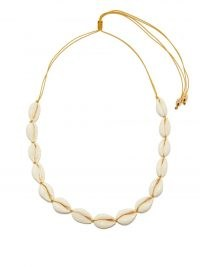 TOHUM Puka shell & 24kt gold-plated choker / womens chokers made with shells / ocean inspired necklaces / women's summer jewellery