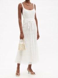 BROCK COLLECTION Tamara scoop-neck macramé-lace dress ~ romantic white summer occasion dresses