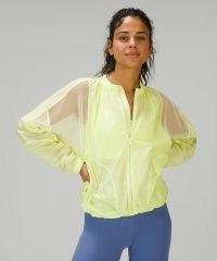 lululemon With the Breeze Jacket ~ women's semi sheer sports jackets