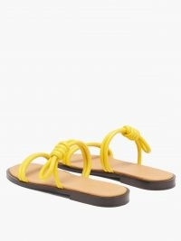 LOEWE Flamenco knotted yellow leather flat sandals