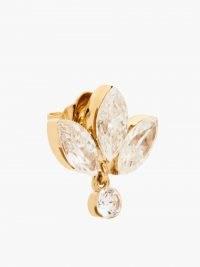 MARIA TASH Lotus diamond & 18kt gold single earring ~ luxe floral jewellery