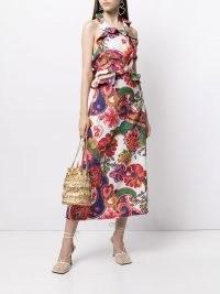 Zimmermann The Lovestruck ruffle detail midi dress ~ ruffled floral and paisley print dresses