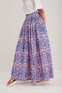 SIKA Azumi Skirt Purple Motif | printed cotton maxi skirts