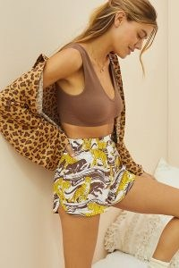 ANTHROPOLOGIE Dreamer Pyjama Shorts / womens animal print pyjamas / women's PJs / sleepwear bottoms