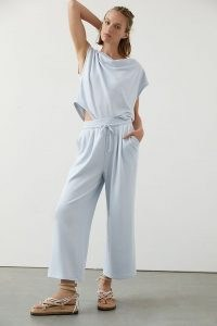 Daily Practice by Anthropologie Slouchy Set Sky / light blue loungewear sets / lounge top and trousers co ords