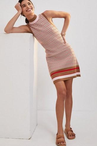 Maeve Mod Shift Mini Dress   sleeveless knitted retro dresses   women's vintage style fashion