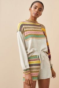 Daily Practice by Anthropologie Mix It Up Short Set / cotton lounge sets / top and shorts co ord / womens loungewear co ords