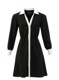 JULIE DE LIBRAN Fanélie wool shirt dress ~ chic long sleeve spread collar fitted waist dresses ~ womens on-trend designer fashion