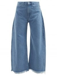 MARQUES'ALMEIDA Blue frayed-cuff wide-leg jeans | womens upcycled, recycled and organic cotton denim