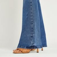 RIVER ISLAND Blue mid rise flared jeans | womens denim flares