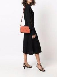 Bottega Veneta Cassette shoulder bag in maple orange ~ womens woven design handbags