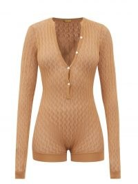DODO BAR OR Helen pointelle-knitted bodysuit ~ womens low cut leg bodysuits
