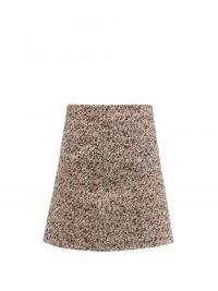 BOTTEGA VENETA Tailored cotton-bouclé skirt | womens textured skirts