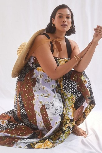 Maeve Floral Maxi Dress / sleeveless plus size square neck summer dresses - flipped