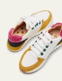 BODEN Classic Trainers Lemon Grove Multi / womens colourblock trainer / women's sneakers