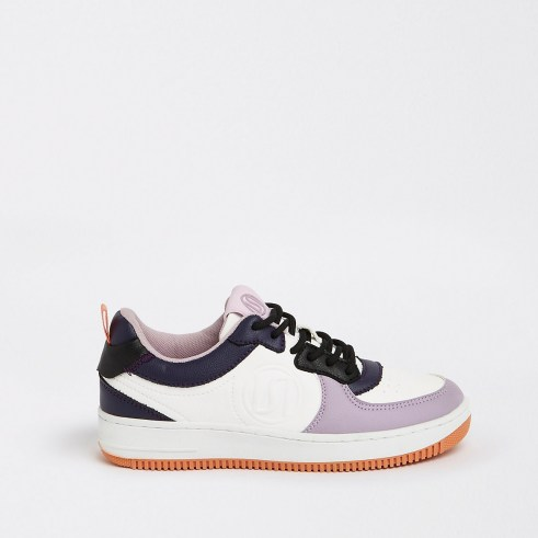 River Island Colour block RI branded lace-up trainers   womens colourblock sneakers - flipped