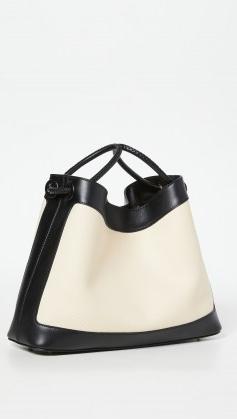 Elleme Vosges Canvas Bag Black/White | monochrome shoulder bags | colour block handbags