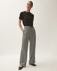 JIGSAW FLUID SATIN CARGO BLUE ~ womens luxe style patch pocket detail trousers