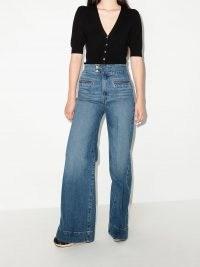 FRAME Le Hardy wide leg jeans ~ womens front pocket high waist denim jeans