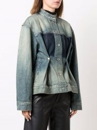 Givenchy distressed-effect tailored denim jacket ~ womens casual designer jackets