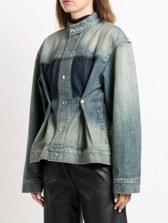 Givenchy distressed-effect tailored denim jacket ~ womens casual designer jackets - flipped