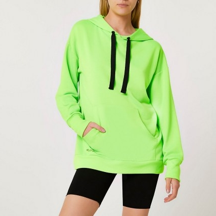 RIVER ISLAND Green fluro oversized hoodie ~ womens bright pullover hoodies