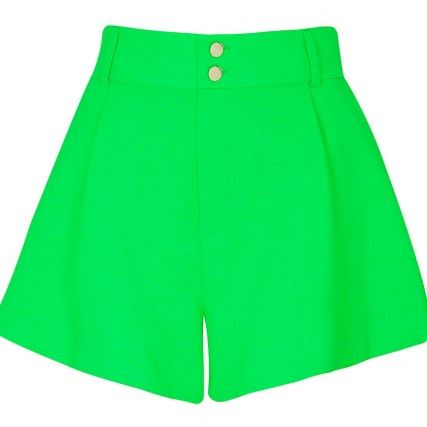 RIVER ISLAND Green structured shorts ~ womens casual summer fashion - flipped