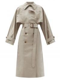 ALEXANDER MCQUEEN Faille trench coat   womens beige belted designer coats