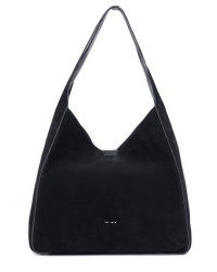 Jigsaw HECKFIELD BLACK SUEDE SLOUCH BAG | slouchy shoulder bags | roomy handbags